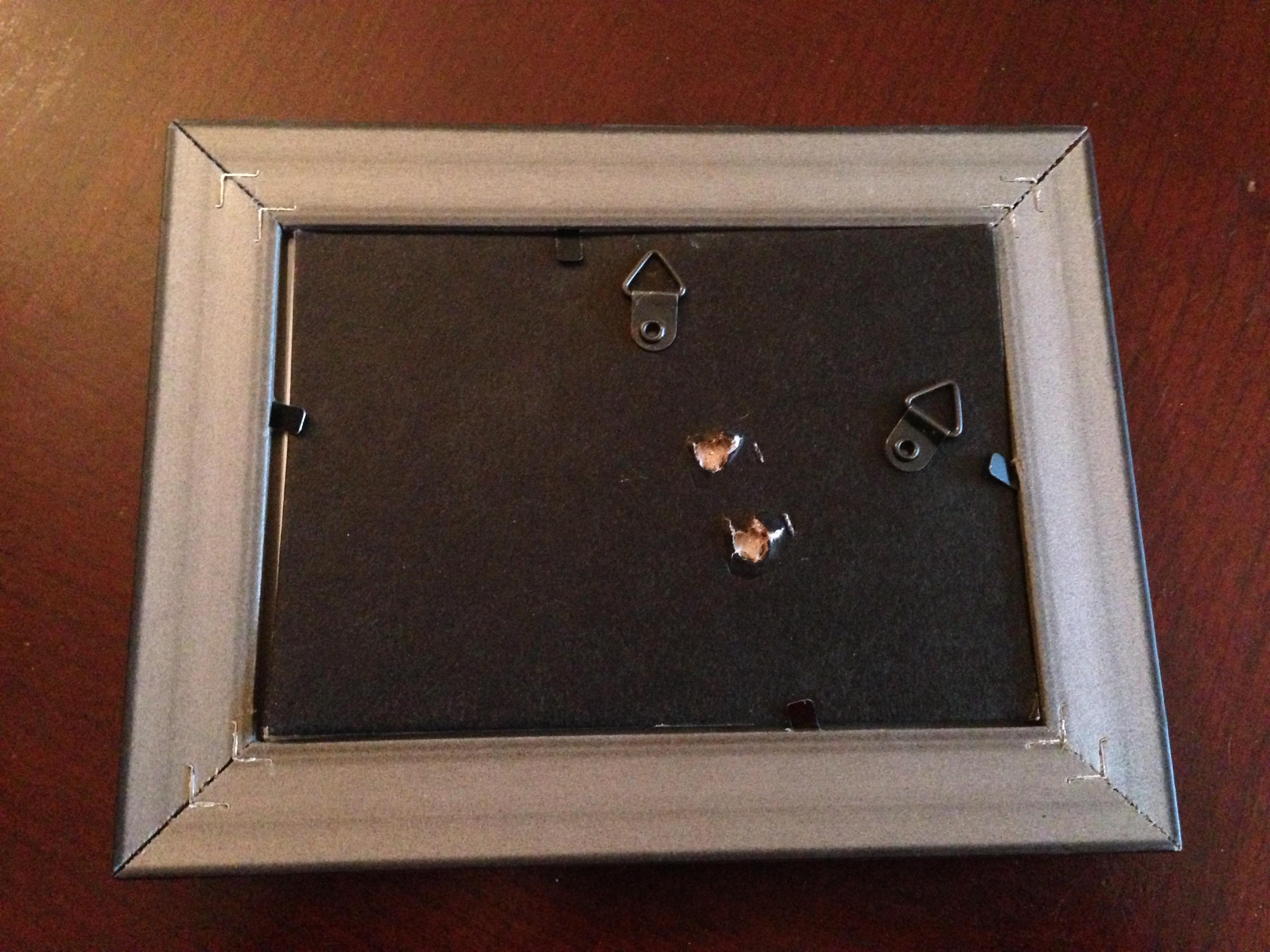 Diy wall art keys phones wallets for Back door and frame set