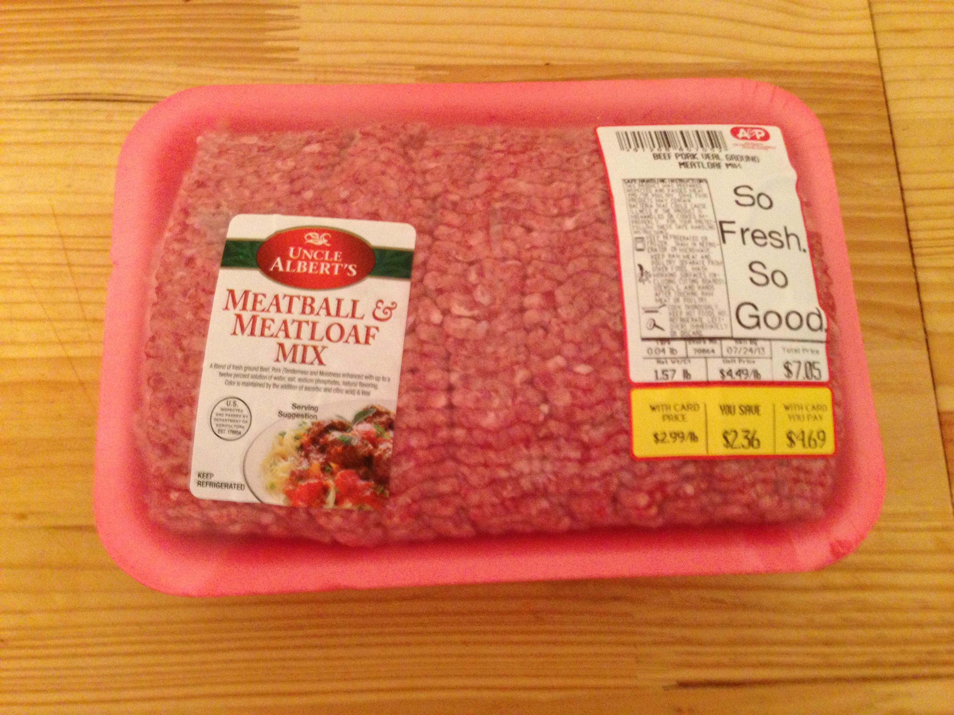 Recipe for pork and veal meatloaf
