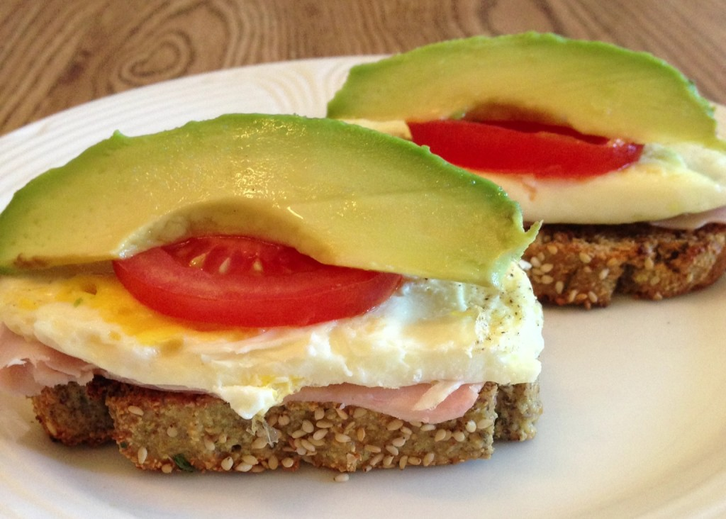 Open-Faced Breakfast Sandwich 1