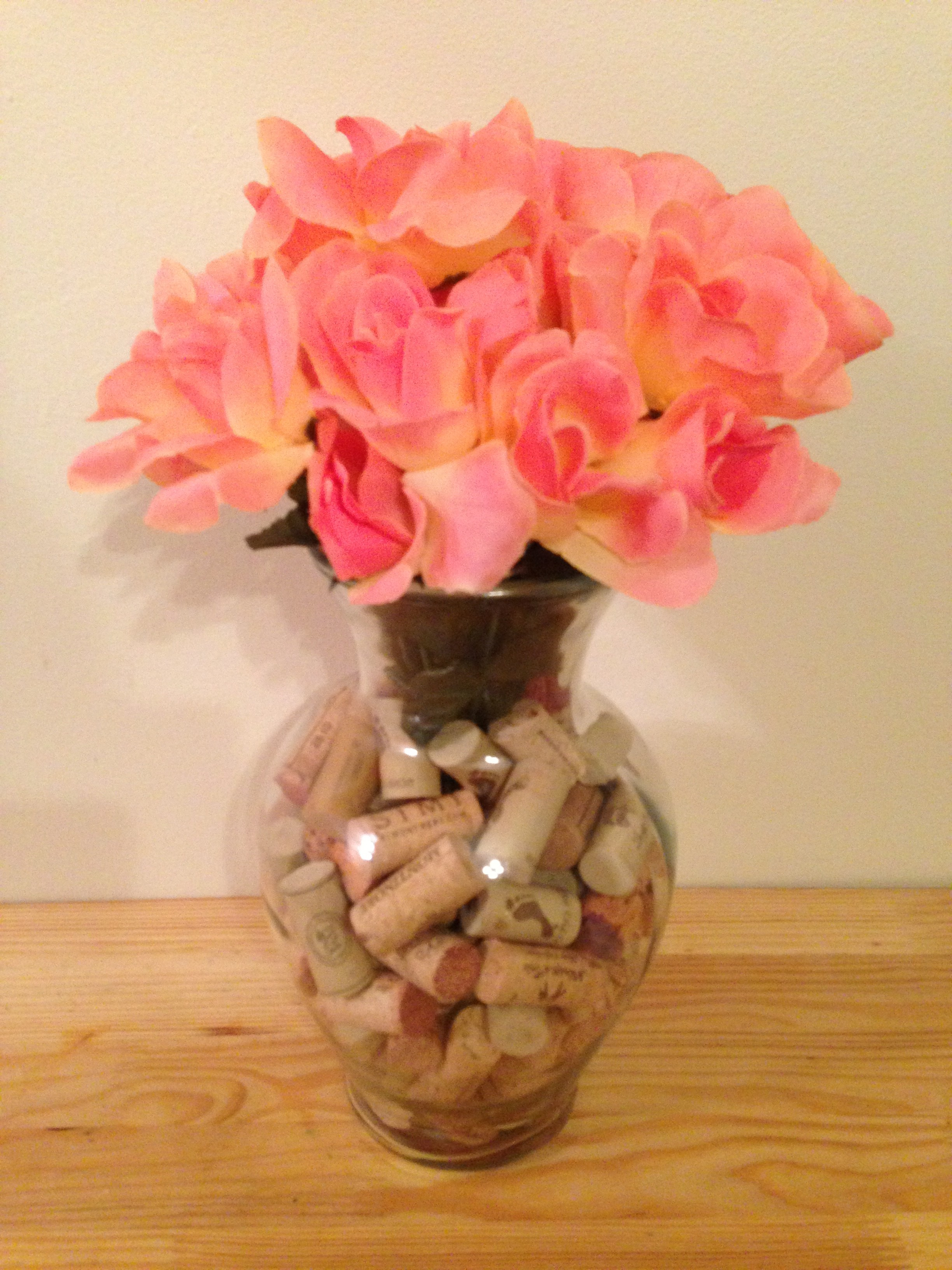 Diy wine cork vase decor eat teach laugh craft wine cork vase reviewsmspy