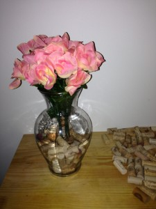 wine cork vase half full