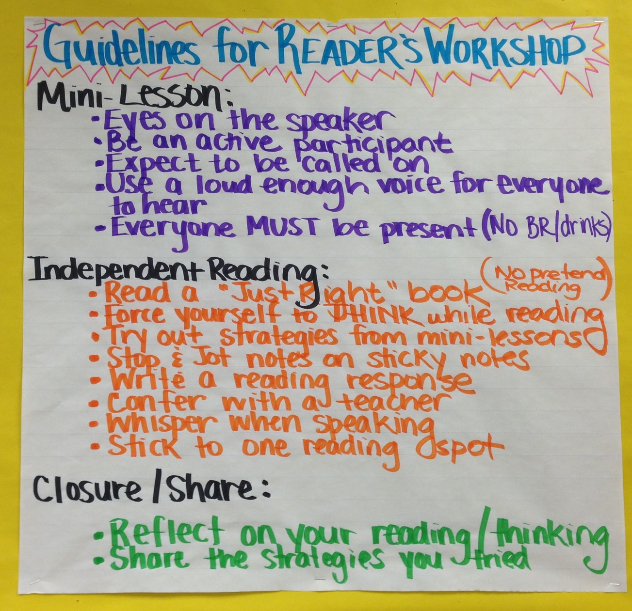 reading workshop lessons teach
