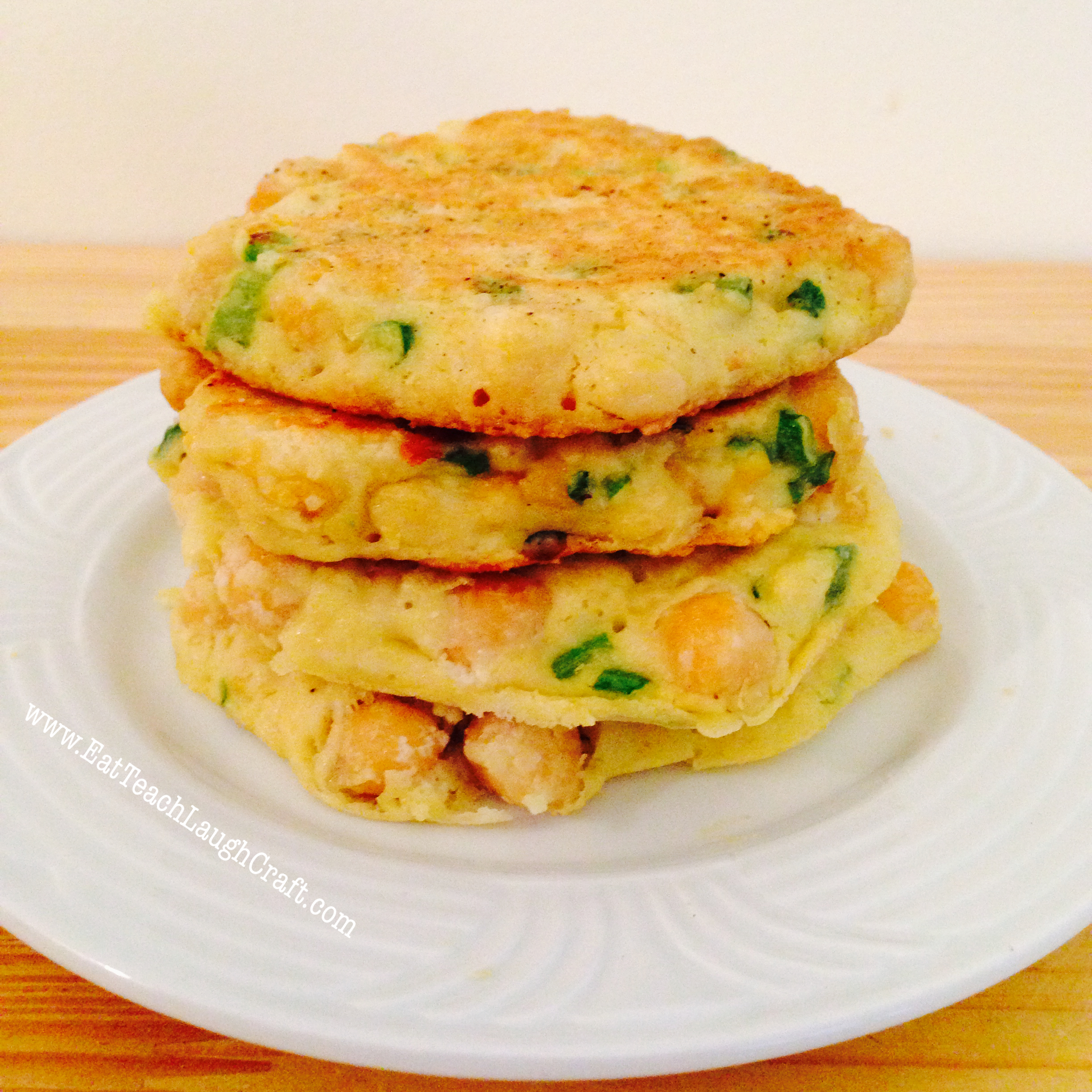 Chickpea Fritters Recipe - Eat Teach Laugh Craft