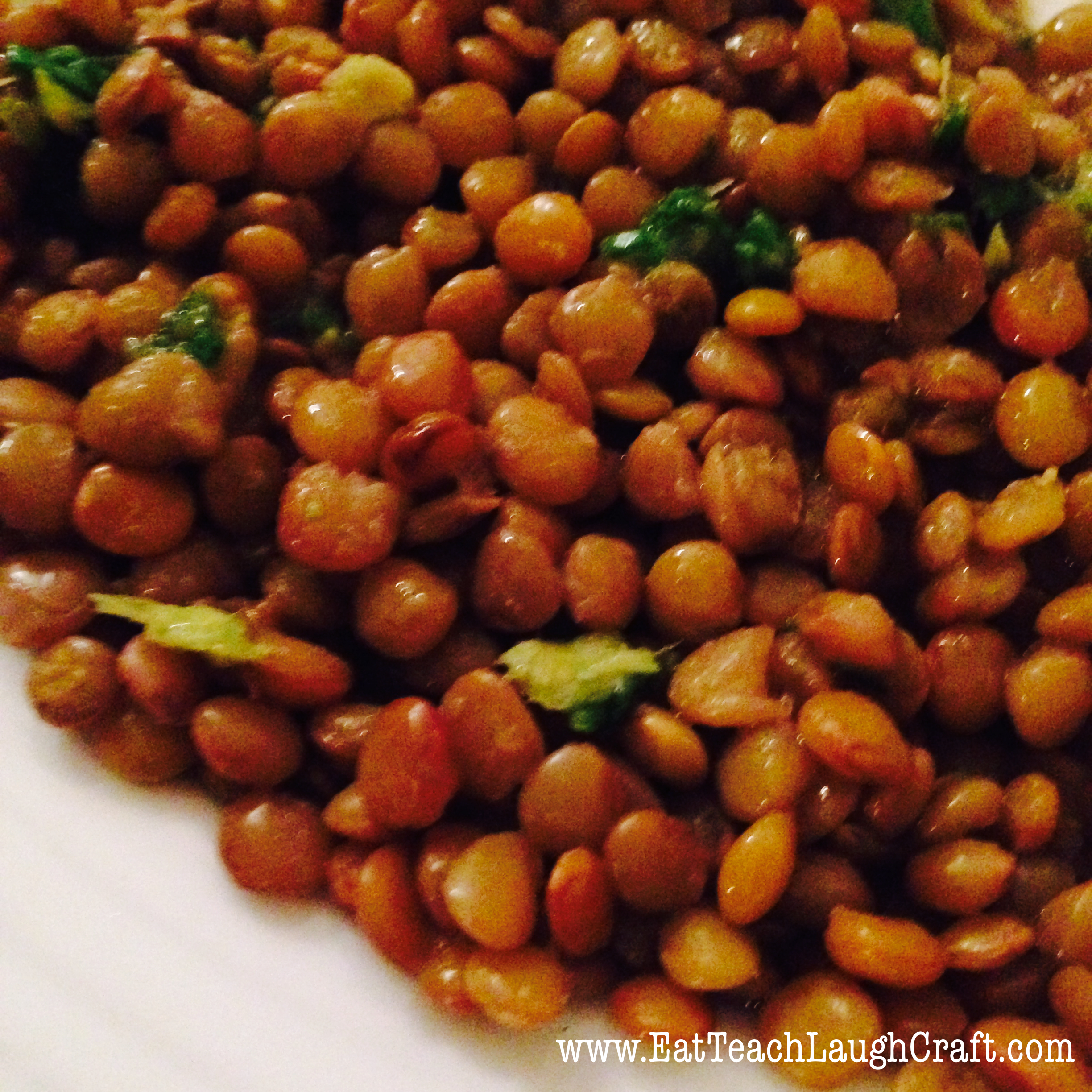 Ginger Scallion Lentils