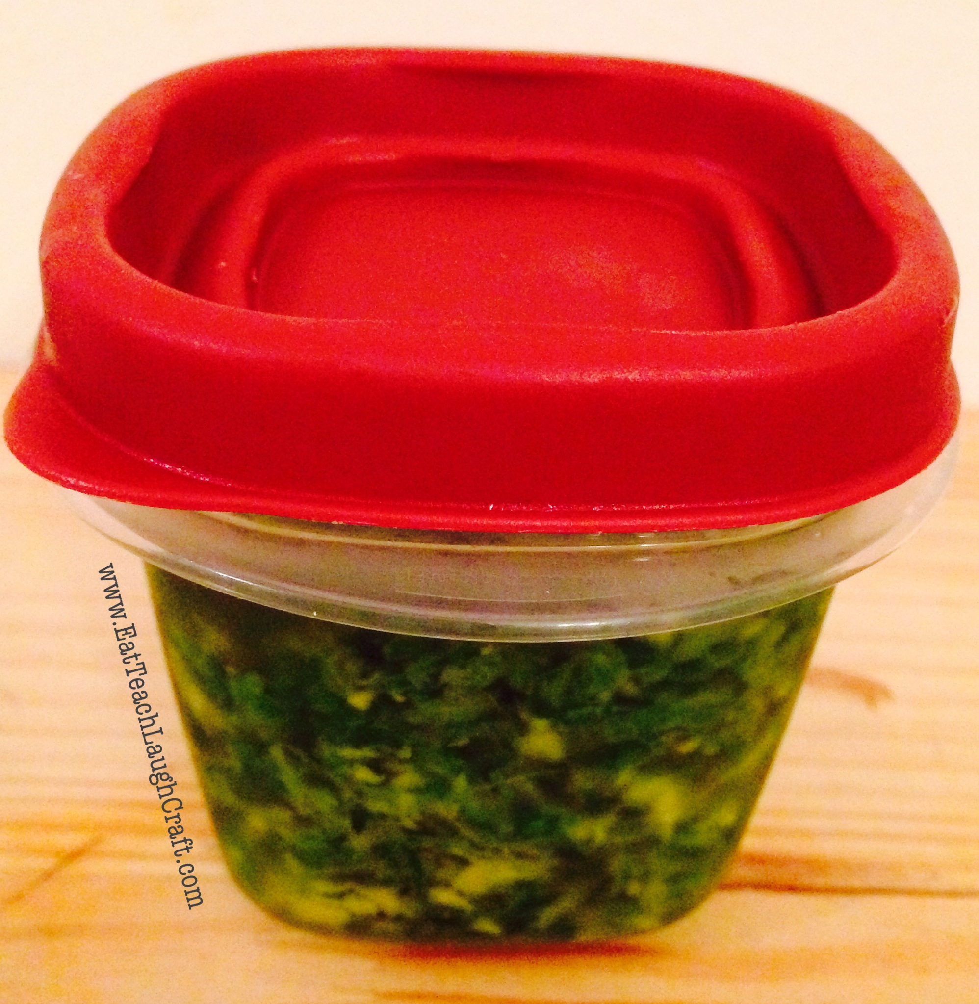 Ginger scallion sauce storage