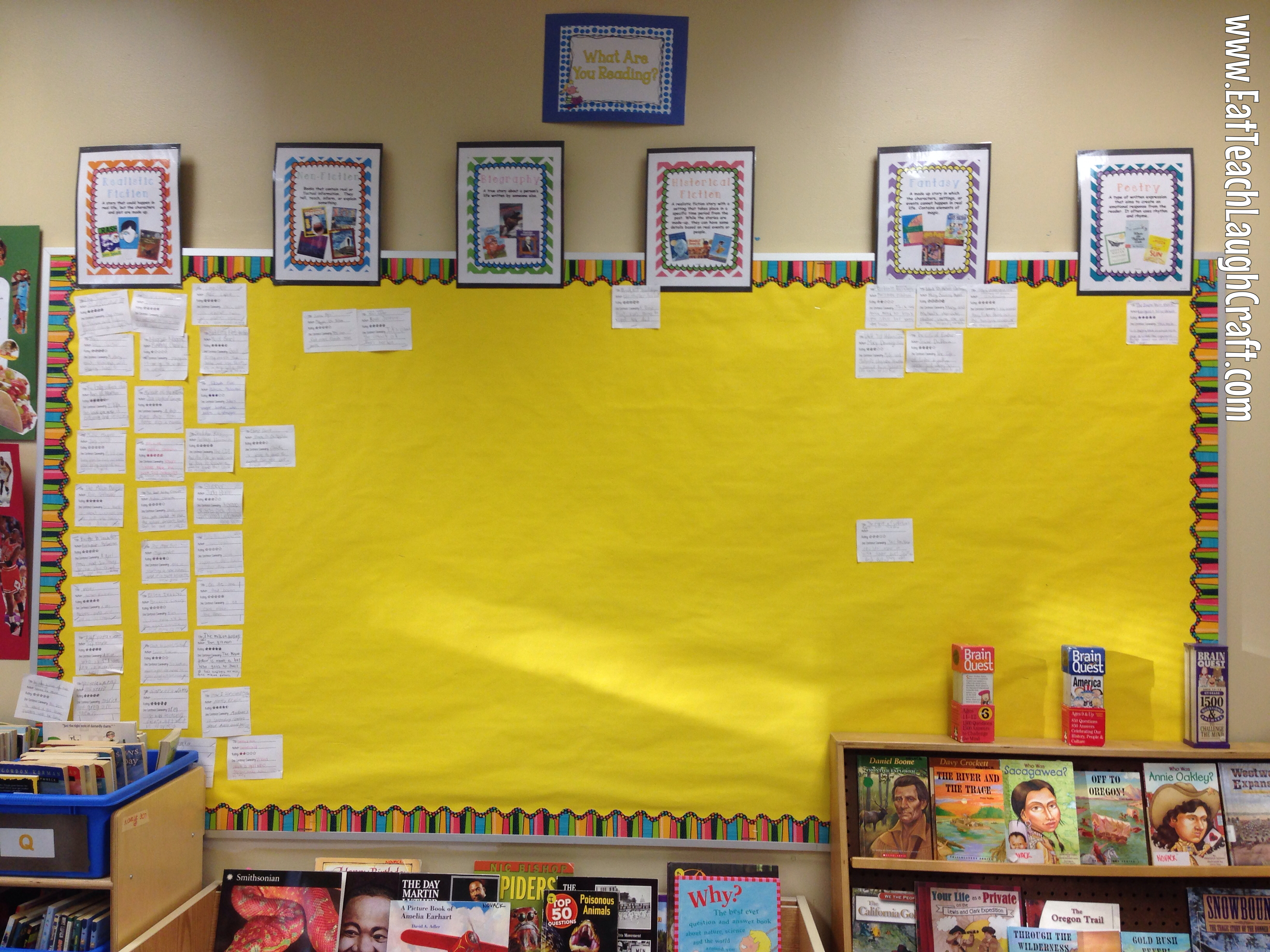 Reading Challenge Interactive Bulletin Board
