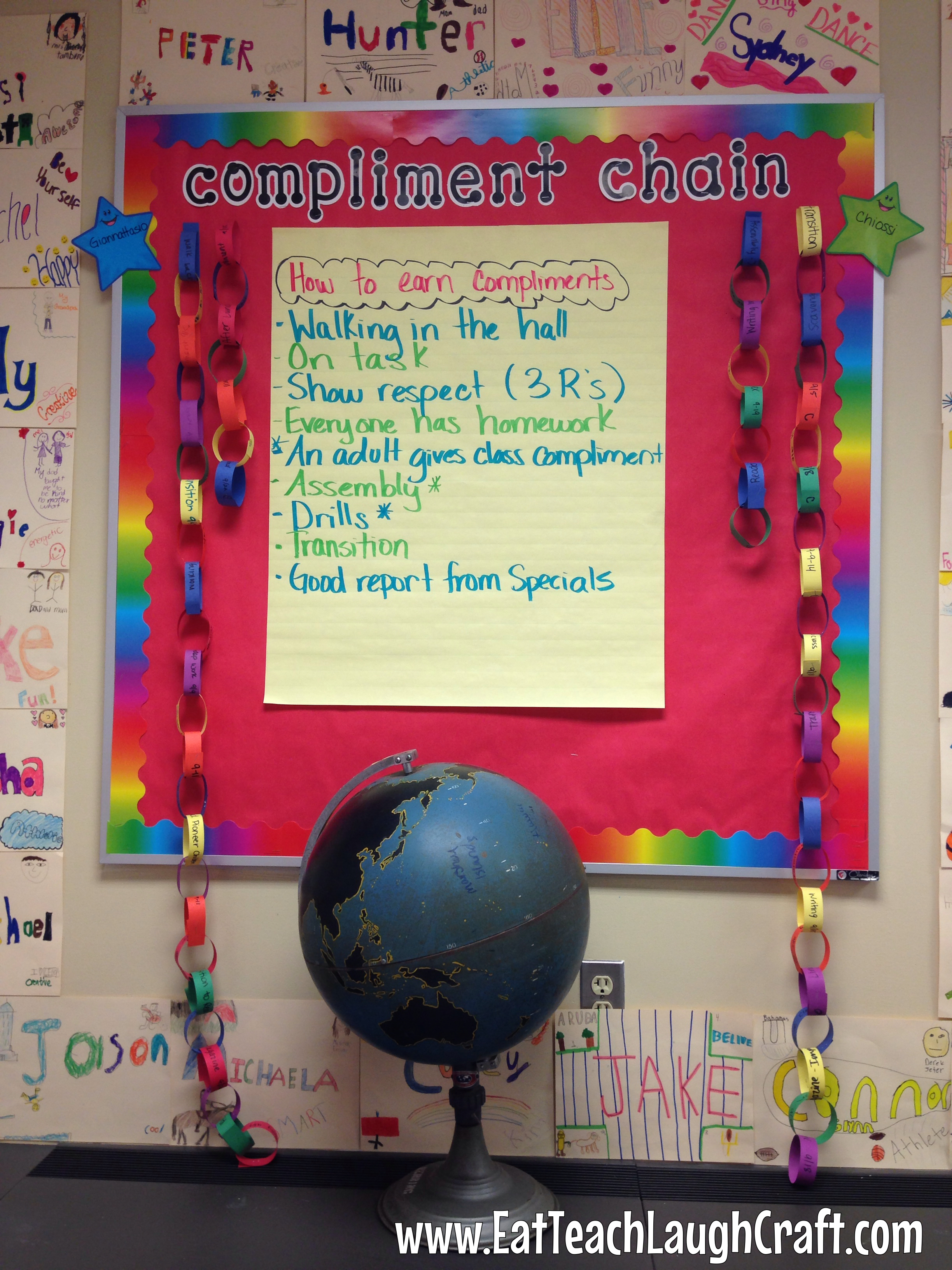 compliment chain classroom management