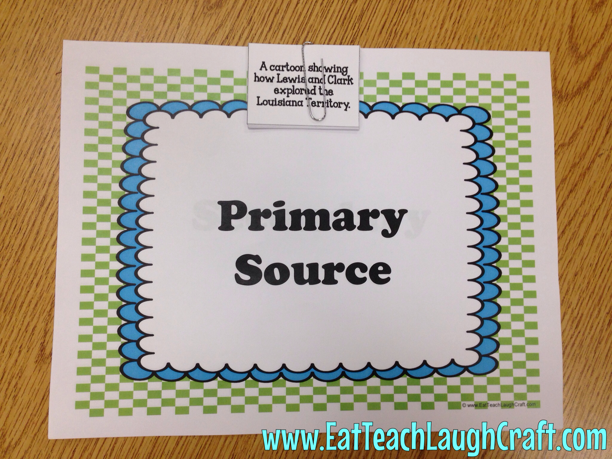 primary source sorting map