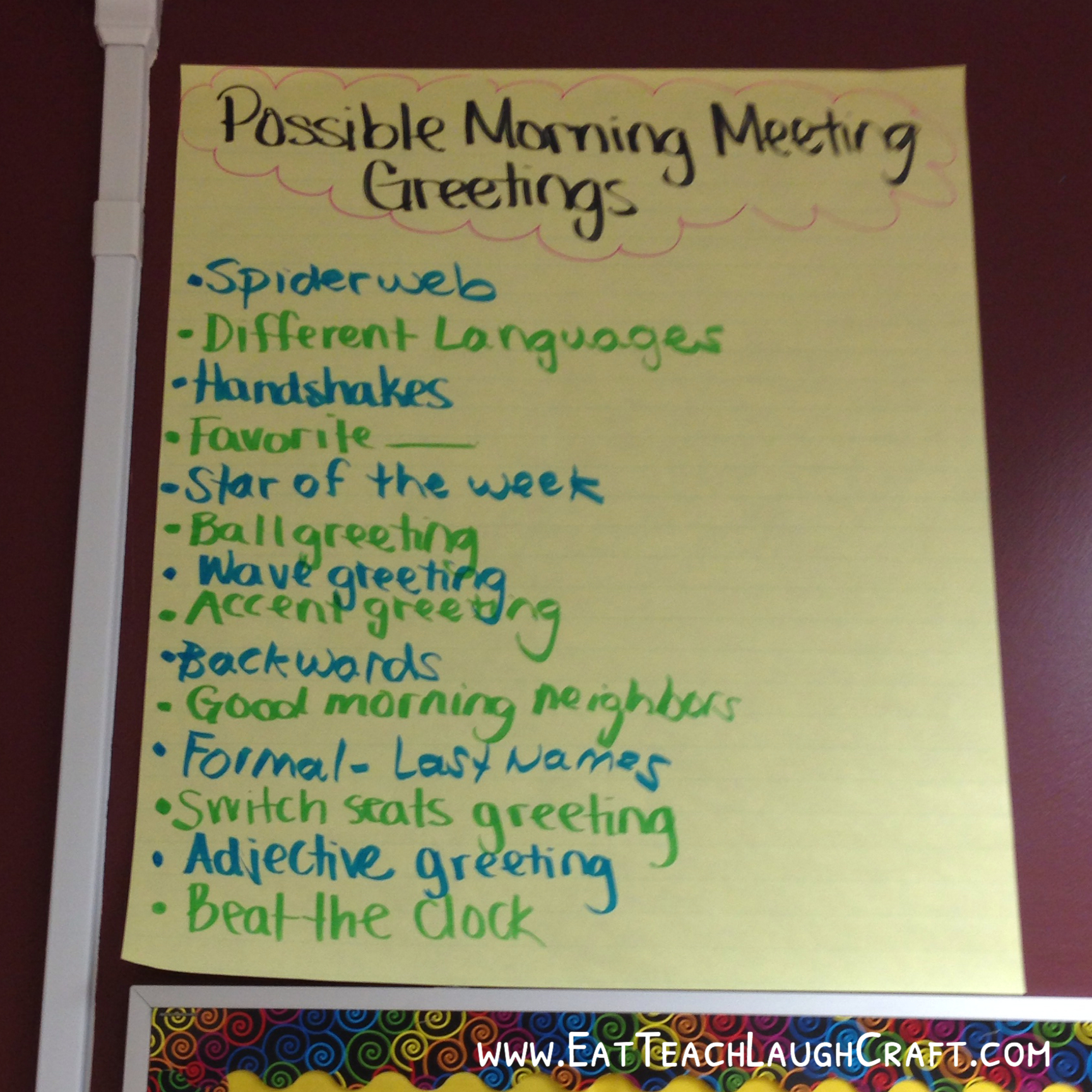 Morning meeting with upper elementary students eat teach laugh craft morning meeting greetings kristyandbryce Choice Image