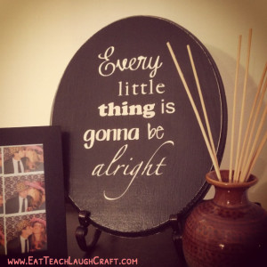 Silhouette portrait - wooden sign every little thing