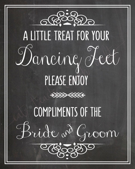 966d575ad Flip Flops Wedding Chalkboard Sign – A Little Treat for Your Dancing Feet   8″x10″