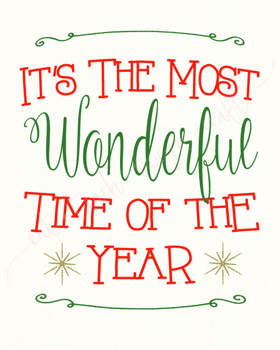 It's the Most Wonderful Time of the Year Print {8x10 ... - photo#44