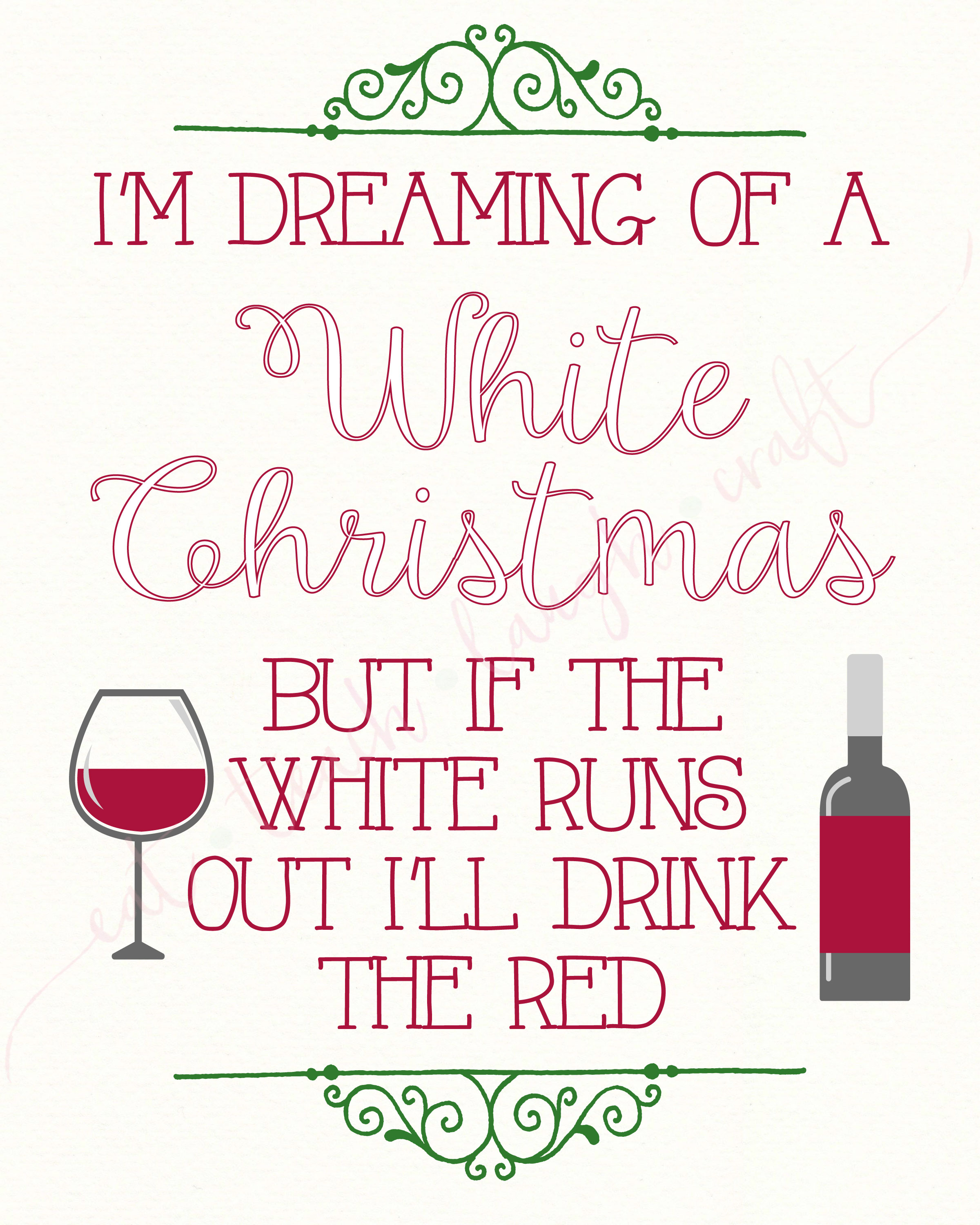 I'm Dreaming of White Christmas, But If the White Runs Out I'll ...