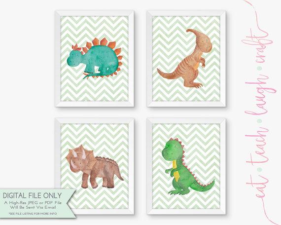dinosaurs nursery set
