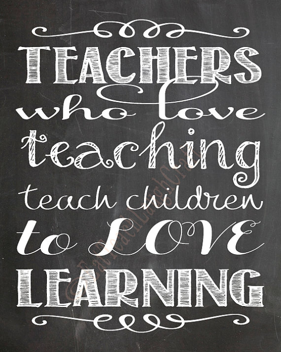 teachers who love teaching chalkboard style teacher print 8x10